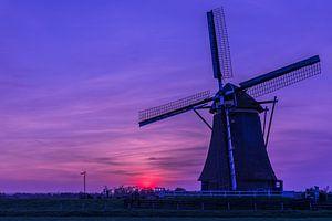 Sonnenuntergang Mühle Aarlanderveen von STEVEN VAN DER GEEST