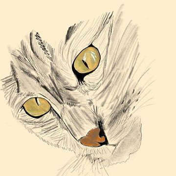 Wilde kat von Monique Schilder
