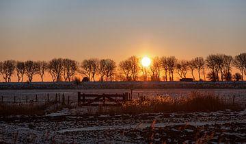 Sonnenaufgang entlang des Kanals durch Walcheren von Percy's fotografie
