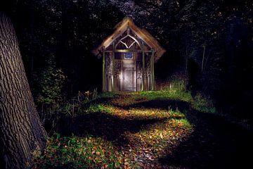 Märchenhaus mit Licht gemalt von Karel Ham