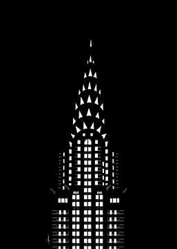 Chrysler Building bij nacht van Govart (Govert van der Heijden)