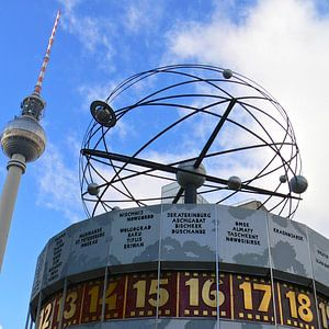 World Time Clock with Berlin TV Tower, Alex