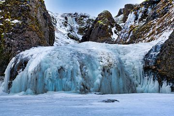 Bevroren waterval, de Stjórnarfoss van Henry Oude Egberink