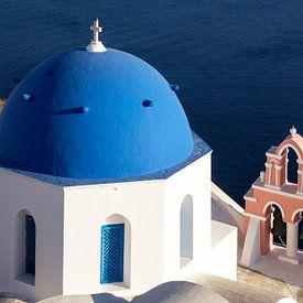 Cloches de l'église de Santorin, Grèce sur Adelheid Smitt