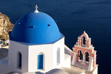 Kerkklokken op Santorini, Griekenland van Adelheid Smitt