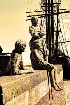 Hoorn Noord-Holland Nederland Jongens van Kapitein Bontekoe van Hendrik-Jan Kornelis