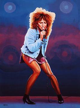 The Queen of Rock Tina Turner Painting sur Paul Meijering