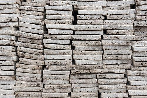 Stapel zout blokken voor de handel | Ethiopië