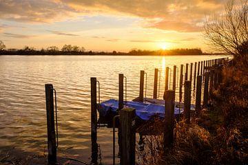 Steigers in zonsondergang van Johan Vanbockryck