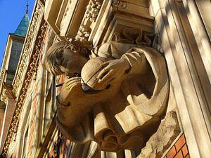 Carl Friedrich Gauß am Gebäude der Oberpostdirektion
