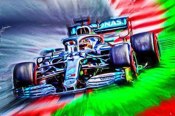 Lewis Hamilton F1 van Jean-Louis Glineur alias DeVerviers