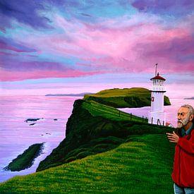 Lighthouse at Mykines Faroe Islands sur Paul Meijering