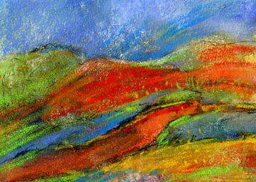 Landschaft - Farbenlust von Claudia Gründler