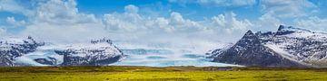 Fjallsarlon Lagune und Gletscher Vatnajökull | Panorama von Melanie Viola