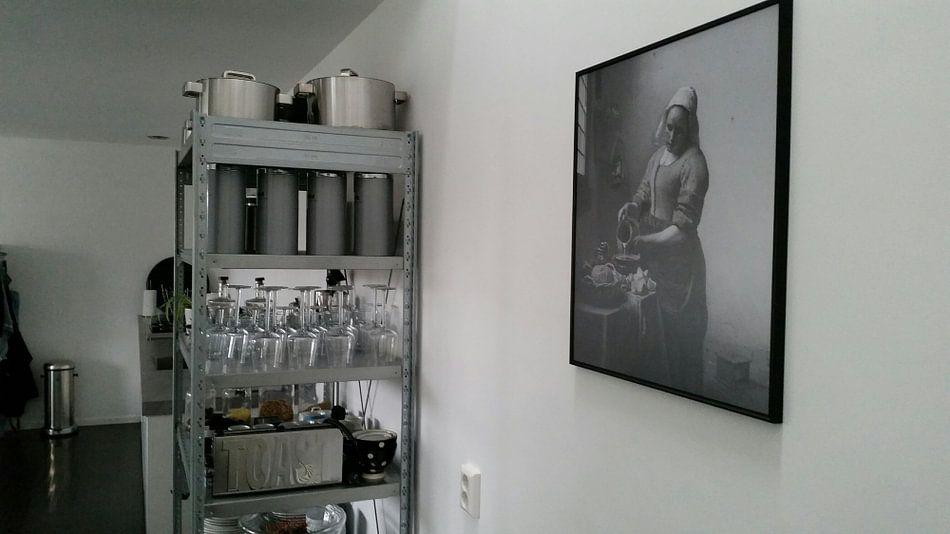 Photo de nos clients: Het Melkmeisje - Johannes Vermeer sur Marieke de Koning, sur poster