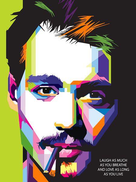Pop Art Johnny Depp van Jan Willem van Doesburg