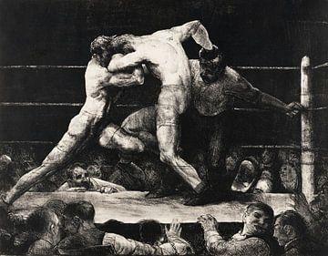 Mannenevenement bij Sharkey, 1917 van Atelier Liesjes
