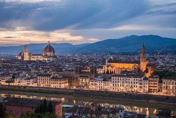 De avond valt in Florence van Jeroen de Jongh