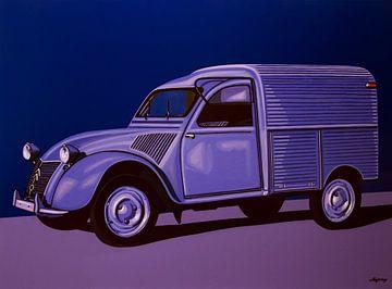 Citroen 2CV AZU 1957 Gemälde