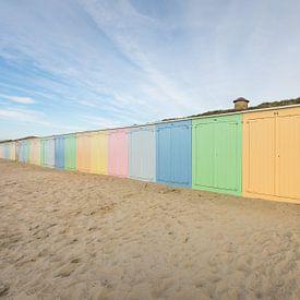 De strandhuisjes van Domburg van Max ter Burg Fotografie