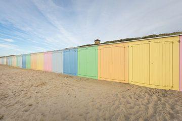 Les maisons de plage de Domburg sur Max ter Burg Fotografie