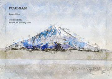 Fuji, Japan van Theodor Decker