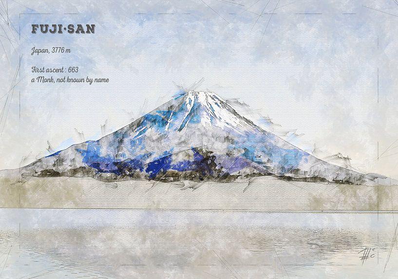 Fuji, Japan von Theodor Decker