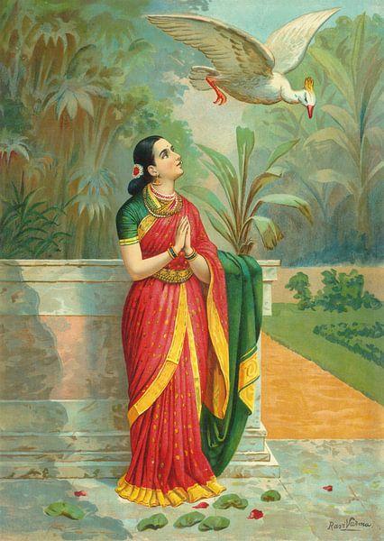Hamsa Damayanti Samvad, Raja Ravi Varma von Meesterlijcke Meesters