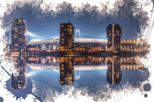 "Feyenoord ART Rotterdam Stadion ""De Kuip"" Reflectie"