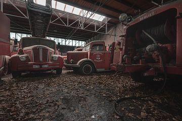 Camions d'incendie décompensés sur Perry Wiertz