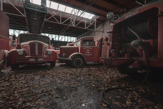 Brandweerwagens in verval