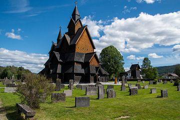 Heddal Staafkerk - Noorwegen van Evy De Wit