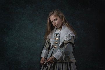 """""""Das blau gekleidete Mädchen"""" Nach dem altniederländischen Meister Johannes Corneliszoon V von ingrid schot"""
