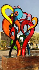 Kleurrijke liefde-uiting van Jan Roodzand