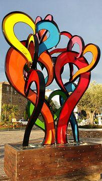 Kleurrijke liefde-uiting van