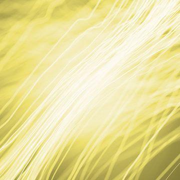 Optische vezels geel van Jörg Hausmann