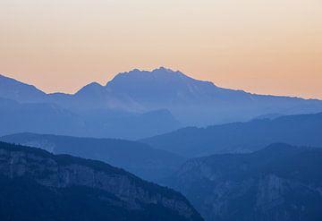 Berg Laagjes bij Zonsopkomst