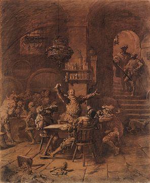 Auerbach's kelder, EDUARD VON GRÜTZNER, 1885 van Atelier Liesjes