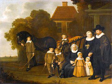 Portrait de groupe de la famille Meebeeck Cruywagen, Jacob van Loo sur
