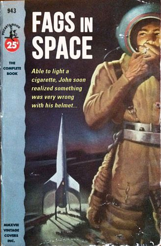 Fags in Space von Vintage Covers
