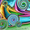 Abstrakte Kunst - Fluid Painting Tornado über der Wiese von Patricia Piotrak Miniaturansicht