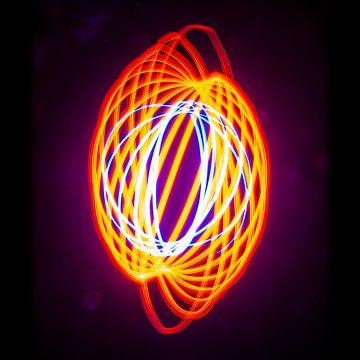 Abstracte Lichtspiraal 1 van Douwe Beckmann