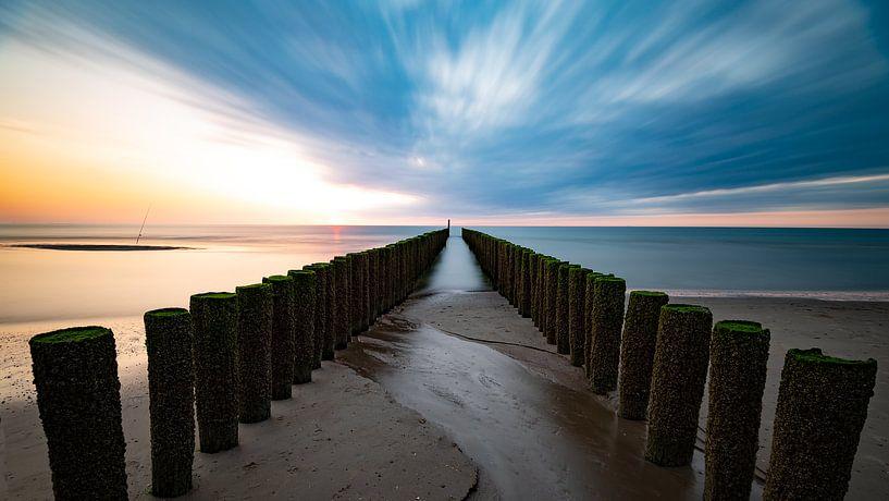 Coucher de soleil Zeeland sur Mark Bolijn