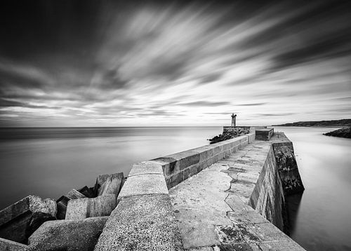Haven Port-en-Bessin.  Normandië