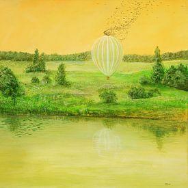 Landender Ballon von Silvian Sternhagel