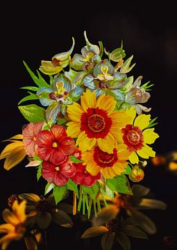 Pop up bloemstuk 3D effect van A De Jong