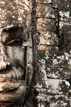 Budha face, Bayon von Lilian Heijmans