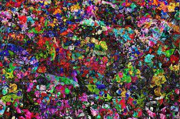 kleurige vlek van kleur, abstract, bloesem, bloemen, kleurveld van Torsten Krüger