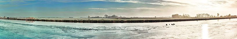 Kager Ader Polder Nederland Panorama in de Winter van Hendrik-Jan Kornelis