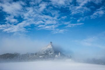 Winterlandschaft Staatzer Berg von Elke Wolfbeisser